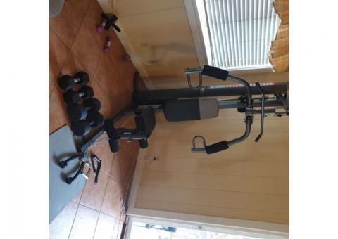 Home gym & dumbells 40# & 25#