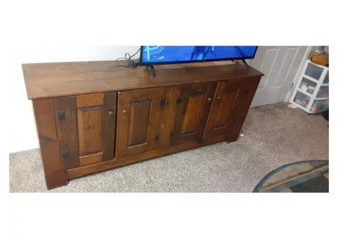 Entertainment center/buffet table