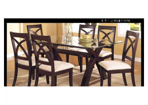 MACYS 7 PC DINING SET